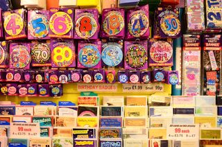 Party Shop in Bath - badges